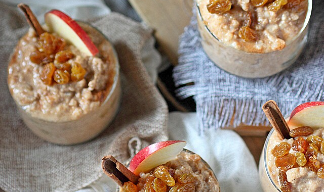 Warm Apple Rice Pudding